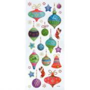 Sticker avec strass pailletés thème Noël - Pochette de 153