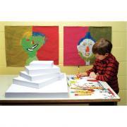 Papier dessin 200g 50x65 blanc - Paquet de 25