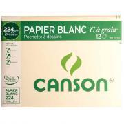 Papier dessin a grain c 224g 24x32 - Pochette de 12