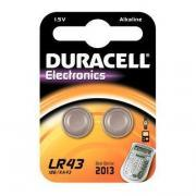 Piles bouton LR43 Duracell Electronics - Blister 2