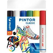 Marqueur Pintor classic pointe moyenne - Pochette de 6