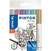 Marqueur Pintor métal pointe fine - Pochette de 6
