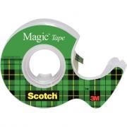 Scotch Magic - Rouleau adhésif invisible avec devidoire - 19mm x 7,5m