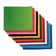 Coupons feutrine 25x30 assorti - Paquet de 12