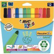 Feutres Visacolor XL couleur assorti - Pochette de 12
