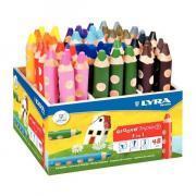 Crayons de couleur gros module - Pot de 48 + 2 taille-crayons
