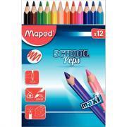 Crayons de couleur gros module - Pochette de 12