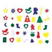 Gommettes de Noël en feutrine - Sachet de 170