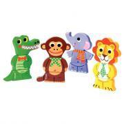 Funny Magnet Jungle - Puzzles magnets drôles d'animaux de la jungle