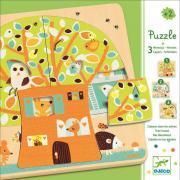 """Djeco - Puzzle 3 niveaux """"La cabane dans les arbres"""""""