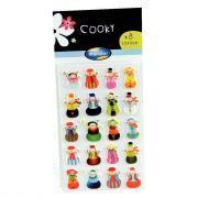 Stickers déco 3D Cooky - Noël - Pochette de 160