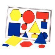 Tableau double entrée + 60 formes géométriques + 4 dés