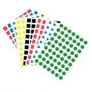Maxi gommettes géométriques repositionnables - Pochette de 2520