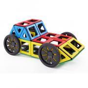 Polydron magnétique - Set de 4 roues + 4 moyeux
