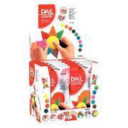 Pâte à modeler colorée DAS COLOR - Pack de 10 pains de 150g