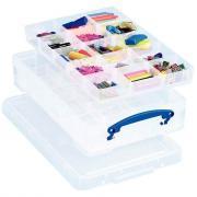 Boîte de rangement transparente de 4L + Diviseur + Trieur