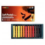 Pastels secs tendres carrés sanguine - Boîte de 12