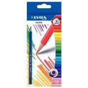Crayons de couleur triangulaires Osiris - Etui de 12