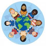 Tapis rond Enfants du monde