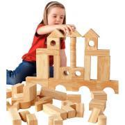 Jeu de construction imitation bois, 68 pièces