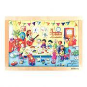 Beleduc - Puzzle à cadre en bois de 24 pièces - Les fêtes d'enfants