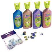 Peinture DIAM'S 3D - Lot de 4 maxi flacons + 100 miroirs offerts