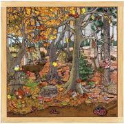 """Puzzle d'observation de  64 pièces """"La forêt en automne / hiver"""""""