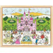 Puzzle en bois de 99 pièces - Le château de la princesse
