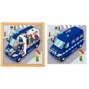 """Puzzle à 2 niveaux """"Camion de police"""""""