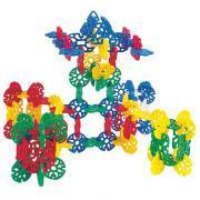 Jeu d'équilibre fleurs géométriques