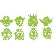 Gabarits masques Personnages fantastiques - Lot de 8