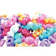 Perles bonbons opaques en plastique - Sachet de 60