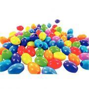 Perles olive fluorescentes en plastique - Sachet de 300