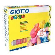 Pâte à modeler Giotto Pongo Soft - Pack de 12 pains de 450g