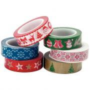 "Ruban adhésif Masking tape ""Noël"" assortis - Lot de 6"