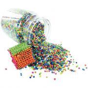 Perles rocailles opaques lustrées - Bocal de 500g
