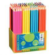 Crayons de couleur 18 cm - Classpack de 144