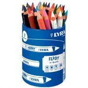 Crayons de couleur Lyra Ferby - Pot de 36