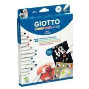 Marqueurs peinture Giotto Decor Materials - Etui de 12