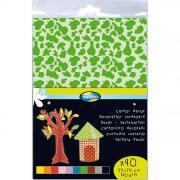 Feuilles carton décoration 25x35 cm - Paquet de 40