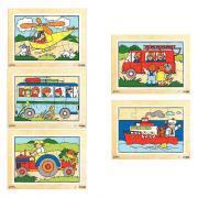 Puzzles en bois de 12 pièces - Lot de 5