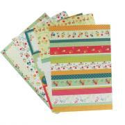 Papier de riz Motif fleur - A4 - Pochette de 5 feuilles