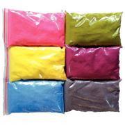 Sable coloré + 6 salières vides couleurs pastels - Lot de 6 sacs de 500g