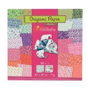 Avenue mandarine - Papier Origami Liberty - Pochette 60