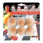 Balles de baby-foot en liège - Lot de 6