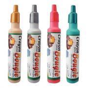 Crayons cire pour bougie, coloris assortis : argent, or, rouge et vert.