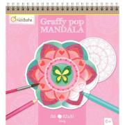 Decopatch - Avenue mandarine - Carnet de coloriage - Graffy Pop Mandala Fille
