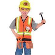 """Déguisement """"Chef de chantier"""" + accessoires"""