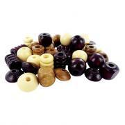 Perles en bois vernis - Sachet de 200