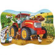 """Puzzle contour 25 pièces """"le grand tracteur"""""""